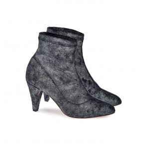 Anniel Stretch Boot Silver Black