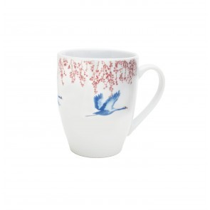 Mug 370ml Cherry Blossom & Lucky Cranes