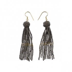 Tassel Earrings Gray