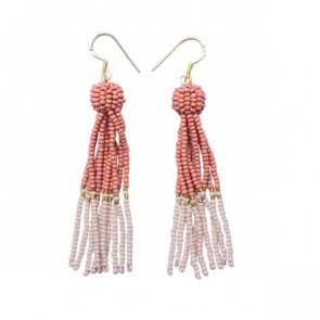 Tassel Earrings Rose Nude