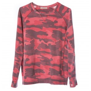 Sweatshirt Distressed Red Camo