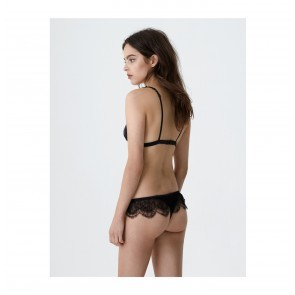 Slip Roomservice Lace Scallop Black
