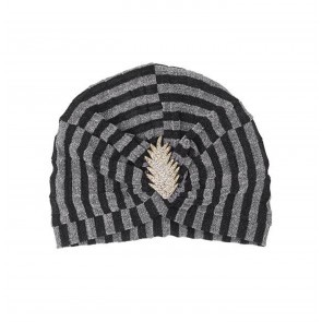 Turban Caron Pleated Black