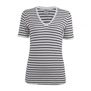 T-shirt Jassy Black White Stripes