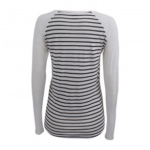Longsleeve Top Jara Black White Stripes