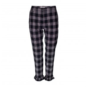 Pants Natsuko Blue Red Check