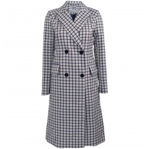Coat Damara Gingham Ocean