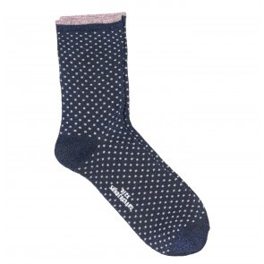 Socks Dina Small Dots Medieval Black