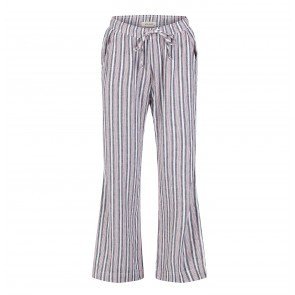 Wide Leg Pant Side Slit Americana Stripe