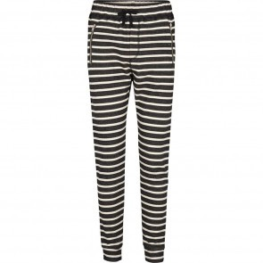 Pants Venus Black Off White Stripes