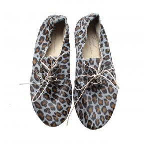 Anniel Grey Brown Leopard Low