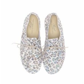 Anniel Grey Leopard Glitter Low