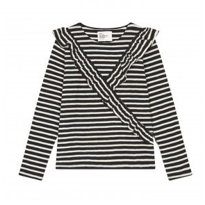 Top Tirso Black White Stripes