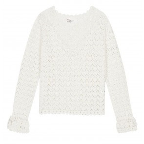 Sweater Macaronou Lace White
