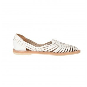 Sandals Pachuca White Leather