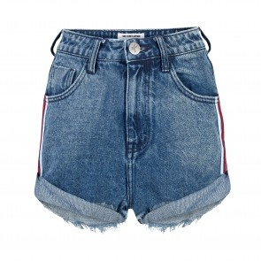Denim Shorts High Waist Blue Society