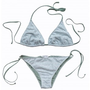 Bikini Triangle Stripes Green