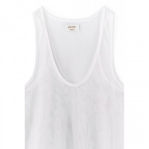 Racer Back Tank Shine White