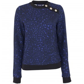 Sweater Jaima Blue Leopard