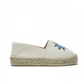 Espadrille Embroidery Palm Star Beige
