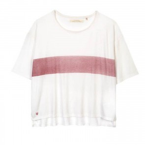 Tee Kate White Red