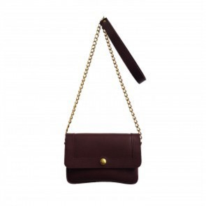 Basic Leather Purse Brown