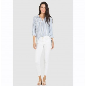 Shirt Fray Hem Button Down Provincetown