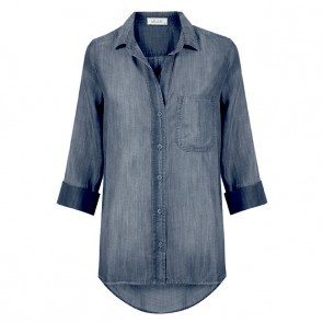 Shirt Tail Button Down Arctic Wash