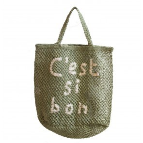 Beach Bag Jute C'est Si Bon Green