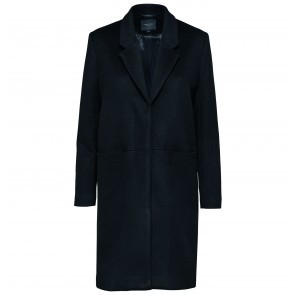 Wool Coat Boa Black