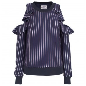 Top Jemma Violetfoil Stripe