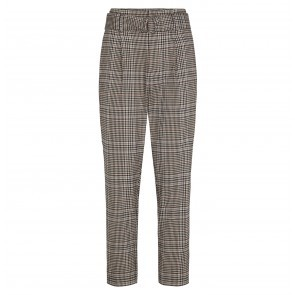 Trousers Binjo Check Off White