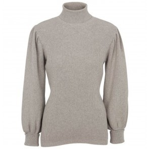Knit Turtleneck Perry Light Grey Melange