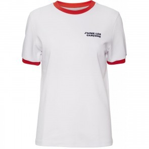 Tee Star White with Red
