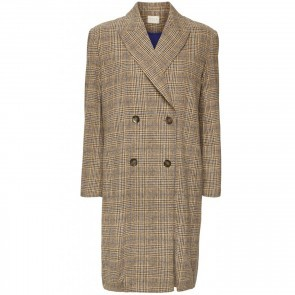 Lapel Coat Hazel Brown Check