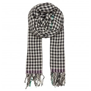 Scarf Eva Black White Check