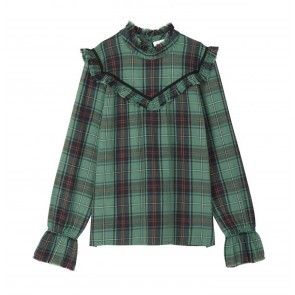 Blouse Curl Green Check