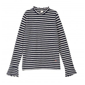 Top Tinou Black White Stripes