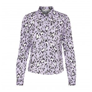 Shirt Leopa Purple Leopard