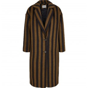 Coat Nola Bronze Brown with Black Stripes