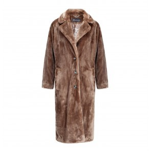Coat Teddy Faux Fur Sand