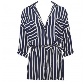 Shirt Dress Debbie Blue White