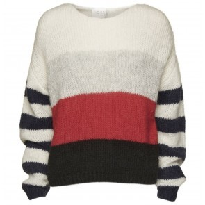 Knit Sweater Raya Red Stripe