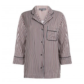 Pyjama Shirt Jude L Beige Stripes