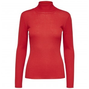 Knit Rollneck Costa True Red