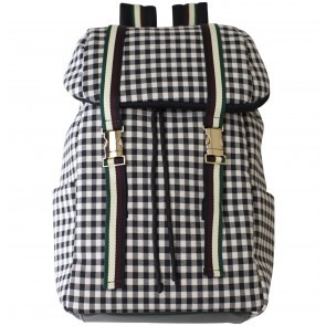 Backpack Kayla Black White Check