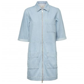 Denim Shirt Dress Sylvia Light Blue