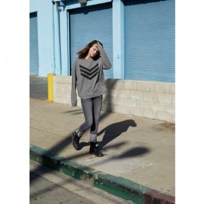 Sweater Jen Grey with Black Logo