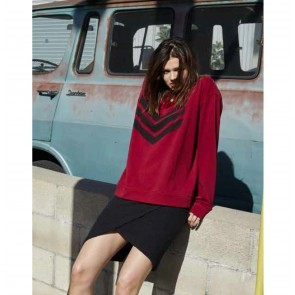 Sweater Jen Red with Black Logo