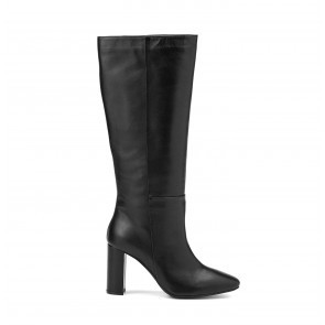 Heeled Boots Black Leather
